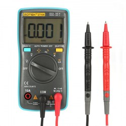 ZT100 Mini Digital Multimeter 4000 counts AC/DC Ammeter Voltmeter